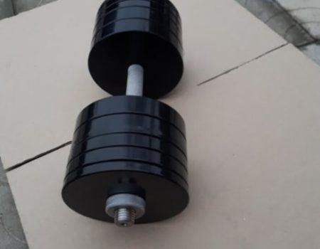 Гантели наборные стальные по 42 кг с порошковой покраской