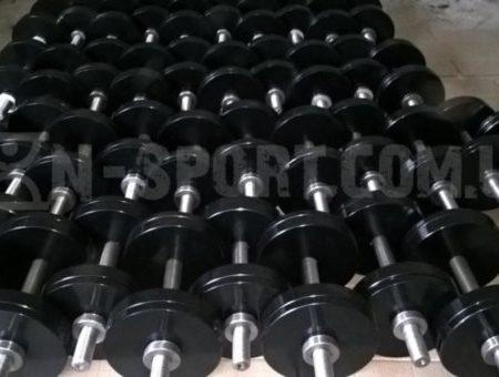 Гантели разборные стальные по 26 кг с порошковой покраской