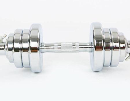 Гантели разборные (2шт) хромированные по 12,5 кг TA-8054-25 (2грифа l-40см, (2,5+1,75+1)х4))