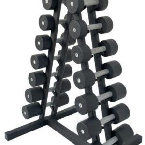 Гантельный ряд BLACK 1-10 кг со стойкой