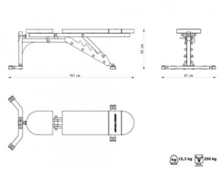 Скамья и многоуровневые стойки Marbo Sport MH24