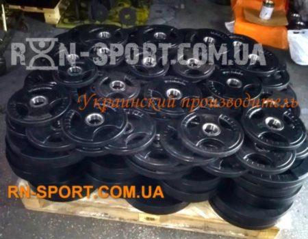 Штанга RN-sport олимпийская, обрезиненная 100 кг, гриф 2.2 м - 50 мм