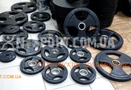Штанга RN-sport олимпийская, обрезиненная 135 кг, гриф 2.2 м - 50 мм