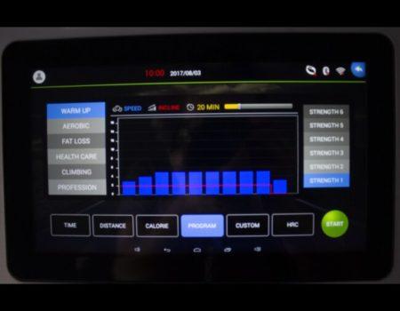 Беговая дорожка SELENA X9 до 150 кг, Android, WI-FI, Chrome, 10 дюймов экран