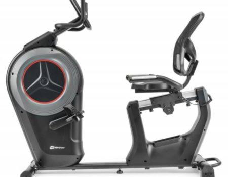 Горизонтальный велотренажер Hop-Sport HS-100L Edge черный iConsole+ мат