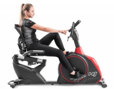 Горизонтальный велотренажер Hop-Sport HS-095L Scale черный+ мат