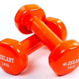 Гантели для фитнеса с виниловым покрытием Beauty (2x3 кг)