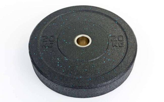 Бамперные диски для кроссфита Bumper Plates из структурной резины d-51мм RAGGY ТА-5126-20 20кг