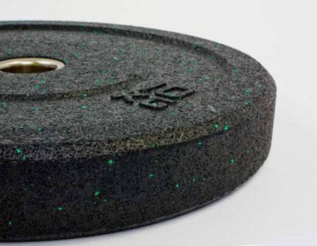 Бамперные диски для кроссфита Bumper Plates из структурной резины d-51мм RAGGY ТА-5126-25 10кг