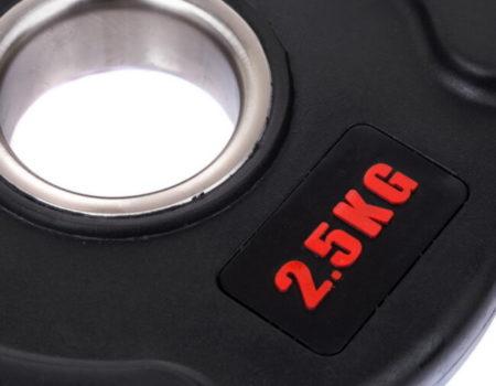 Блин (диск) обрезиненный с тройным хватом  d-51мм Life Fintess  2,5кг (черный)