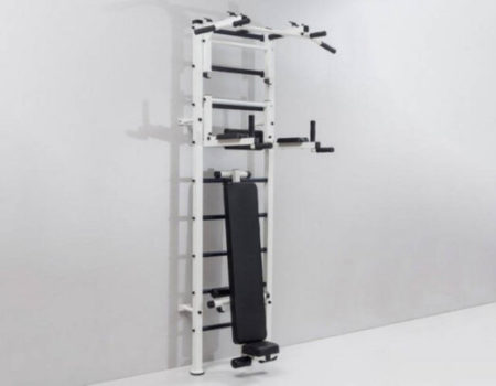 Шведская стенка с турником, брусьями, скамьей для пресса и спины Атлант RN-Sport