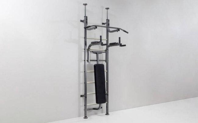 Шведская стенка с турником, брусьями, скамьей для пресса и спины Energy RN-Sport