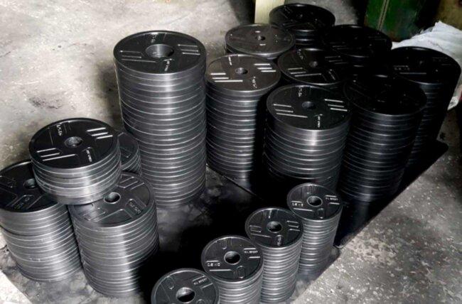 ОПТ. Диски обрезиненные для штанги RN-Sport 2.5 - 20 кг - 26,5 мм или 51 мм