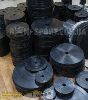 Диск RN-Sport стальной обрезиненный 15 кг - 51 мм