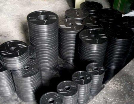 Диск RN-Sport стальной обрезиненный 2,5 кг - 27 мм