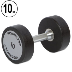 Гантель цельная профессиональная TECHNOGYM (1шт) TG-1834-10 10кг (полиуретановое покрытие, вес 10кг)