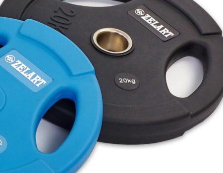 Блин (диск) 20 кг  полиуретановый с хватом d-28мм