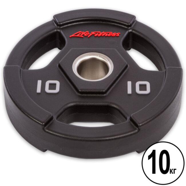 Блин (диск) полиуретановый Life Fintess  10 кг