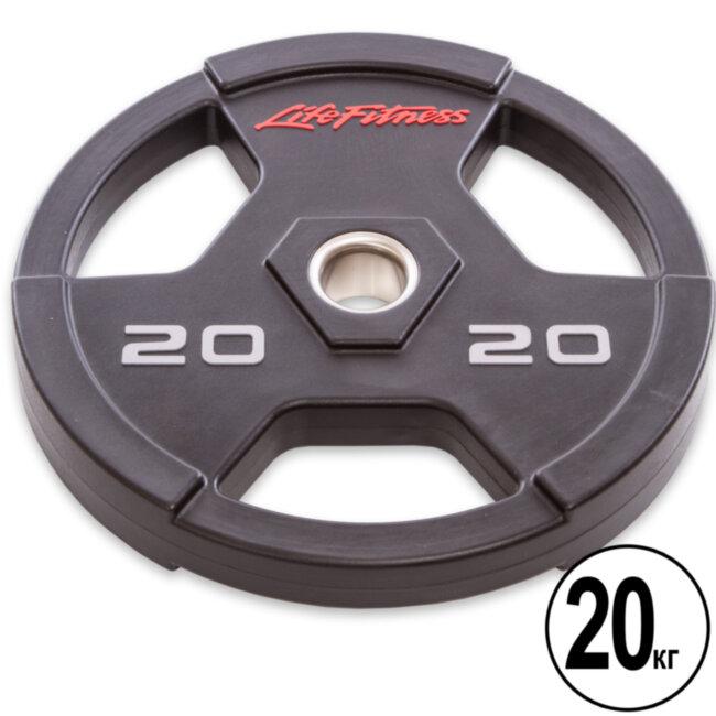 Блин (диск) полиуретановый  d-51мм Life Fintess  20 кг