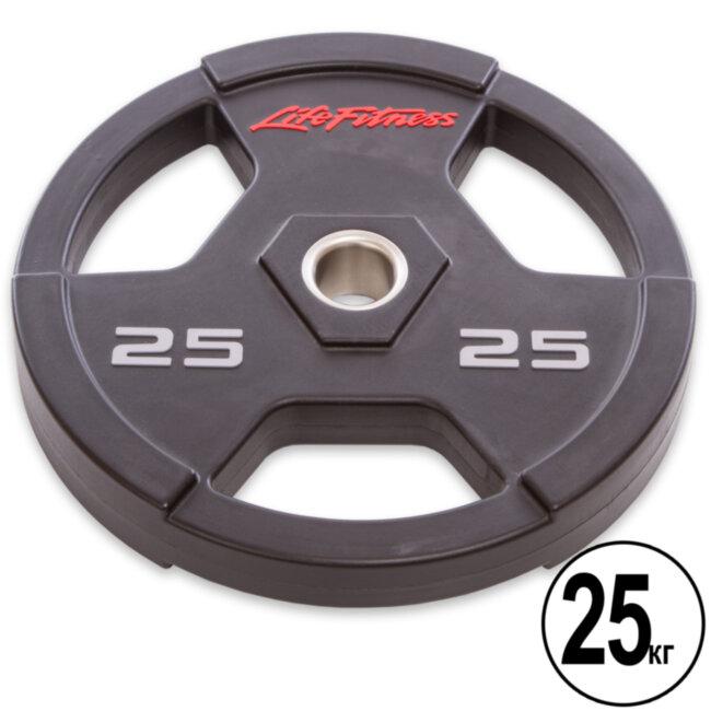 Блин (диск) полиуретановый  d-51мм Life Fintess  25кг