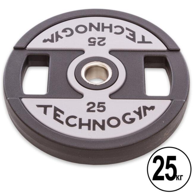 Блин (диск) полиуретановый d-51мм Technogym  25 кг