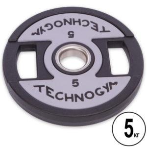 Блин (диск) полиуретановый d-51мм Technogym 5 кг