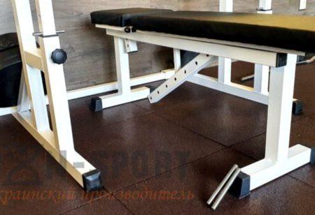 4 кв. метра, 12 мм толщина. Набор резинового покрытия №1 для домашнего спортзала