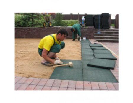 20 кв. метра, 20 мм толщина. Набор резинового покрытия №5 для домашнего спортзала