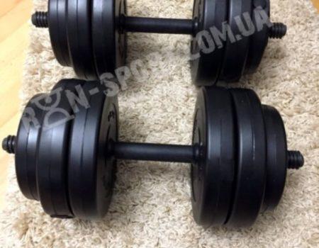 Гантель композитная RN-Sport 20 кг - 1 шт + Эспандер