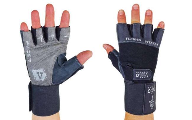 Перчатки атлетические с фиксатором запястья Furious Fitness, размер М