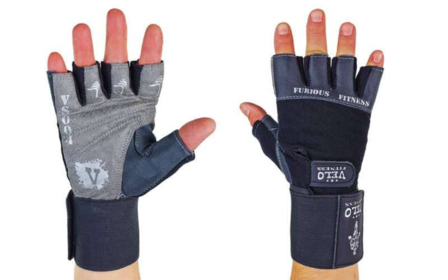 Перчатки атлетические с фиксатором запястья Furious Fitness, размер L