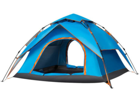 СКИДКА! Палатка-автомат с автоматическим каркасом 4-х местная  (2х2,3х1,4м)