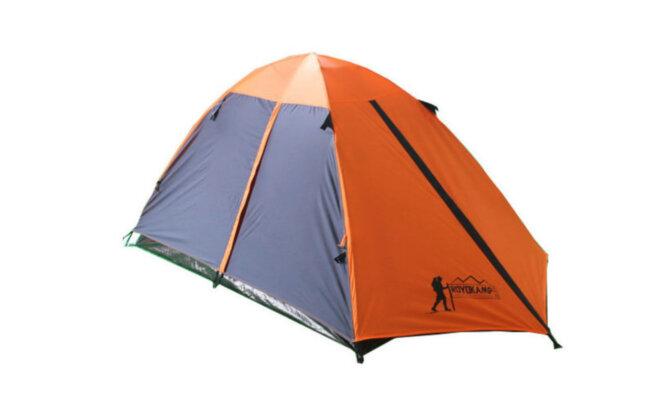 Палатка кемпинговая 3-х местная с тентом и коридором Tourist (1,8х(1+2)х1,2м)