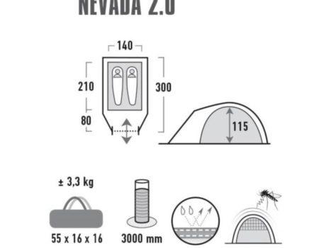 Палатка High Peak Nevada 2 (Dark Grey/Red)