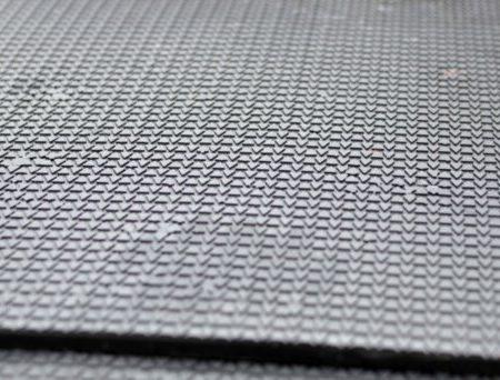 От 10 кв.метров. Плиты с натуральной резины 500х500. Горячее прессование.