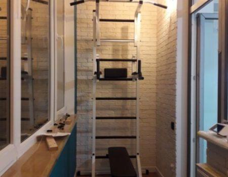 Шведская стенка передвижная со скамьей для пресса Универсал  (66х219х139 см)