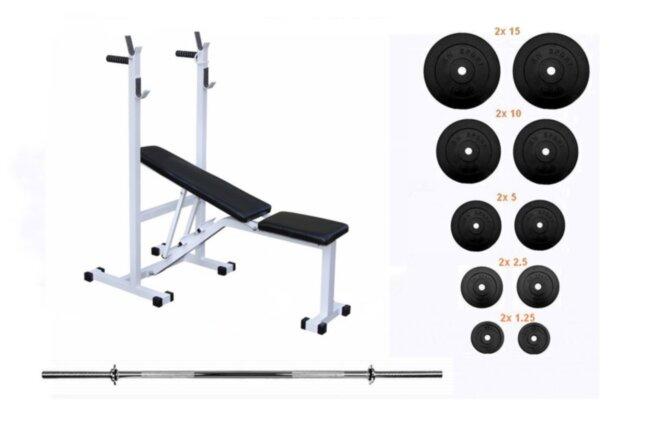 Скамья для жима Top и штанга 75 кг RN-Sport