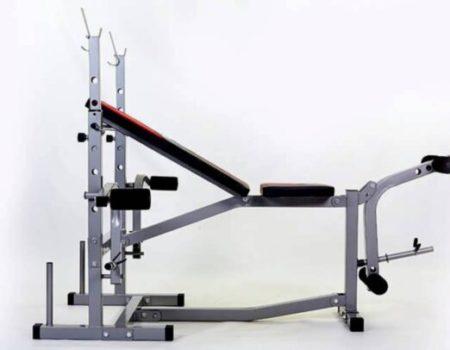 Скамья для жима Micro + 4 грифа + 62 кг блинов RN-Sport