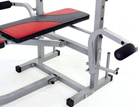 Скамья для жима Micro + 4 грифа + 115 кг блинов RN-Sport