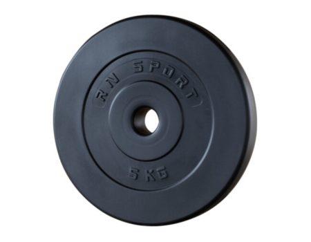 75 кг (4 по 10, 4 по 5, 4 по 2.5, 4 по 1.25) блинов на штангу покрытых пластиком (31 мм)