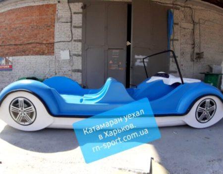 Новинка!  Водный велосипед Катамаран GARBUS с горкой