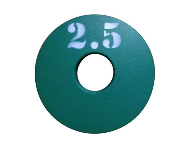 Диск (блин) для штанги стальной, крашенный 2,5 кг - 51 мм