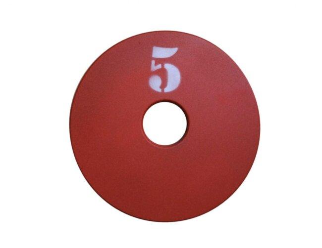 Диск (блин) для штанги стальной, крашенный 5 кг - 51 мм