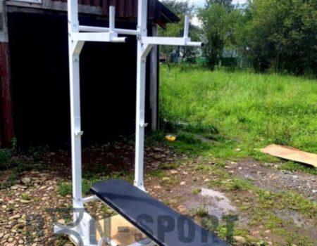 Комплекс (5в1) 50х50 мм- Скамья для жима, турник, пресс, брусья