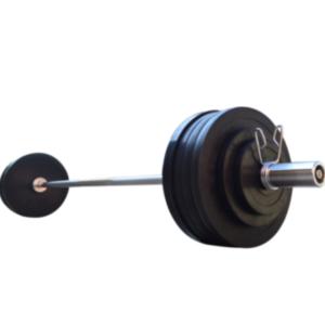 Обрезиненная штанга RN-Sport на 125 кг с олимпийским грифом