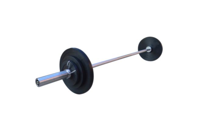 Штанга обрезиненная RN-Sport 50 кг с олимпийским грифом