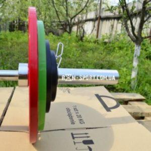 Стальная олимпийская штанга Rn-Sport на 80 кг с грифом (50 мм)