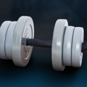 Гантель RN-Sport 11 кг Gray c ABS покрытием