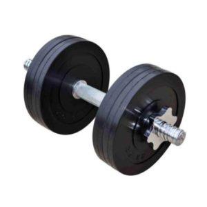 Гантель обрезиненная наборная 11 кг Rn-Sport