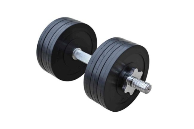 Обрезиненная гантель RN-Sport 16 кг